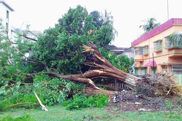 West Bengal attempts to recover from the devastation caused by the Amphan Cyclone. (Photo courtesy: AIFF Media)