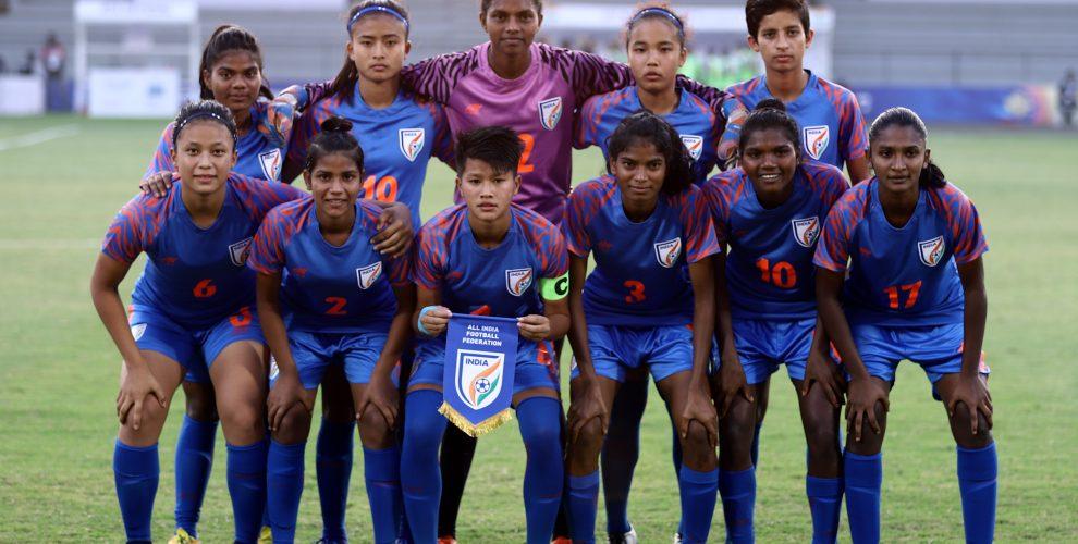 The Indian U-17 Women's national team. (Photo courtesy: AIFF Media)