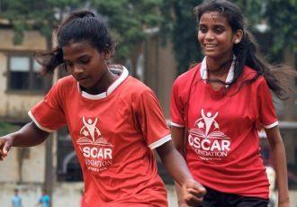 Girls enjoying a training session in Mumbai. (Photo courtesy: Oscar Foundation)
