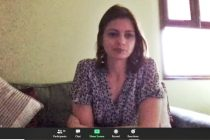 Sara Pilot during the AIFF Women's Committee video conference. (Photo courtesy: AIFF Media)