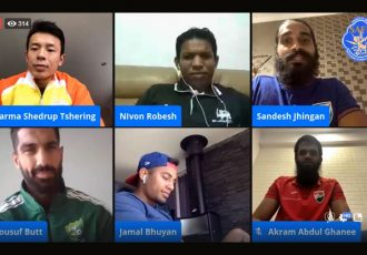 Facebook Live organised by the South Asian Football Federation (SAFF) which featured players from its Member Associations. (Photo courtesy: AIFF Media)