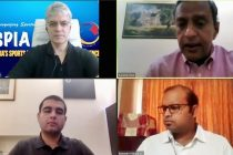 AIFF General Secretary Kushal Das and other participants during a SPIA Asia webinar. (Photo courtesy: AIFF Media)