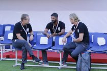 India U-17 national team head coach Thomas Dennerby, assistant coach Alex Ambrose and fitness coach Per Karlsson. (Photo courtesy: AIFF Media)