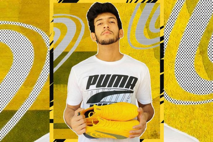 PUMA's Global Brand Ambassador: India midfielder Sahal Abdul Samad. (Photo courtesy: PUMA)