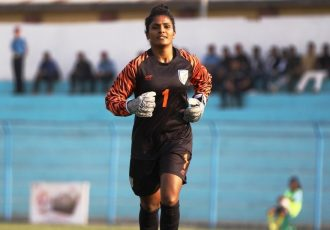 Indian women's national team goalkeeper Aditi Chauhan. (Photo courtesy: AIFF Media)