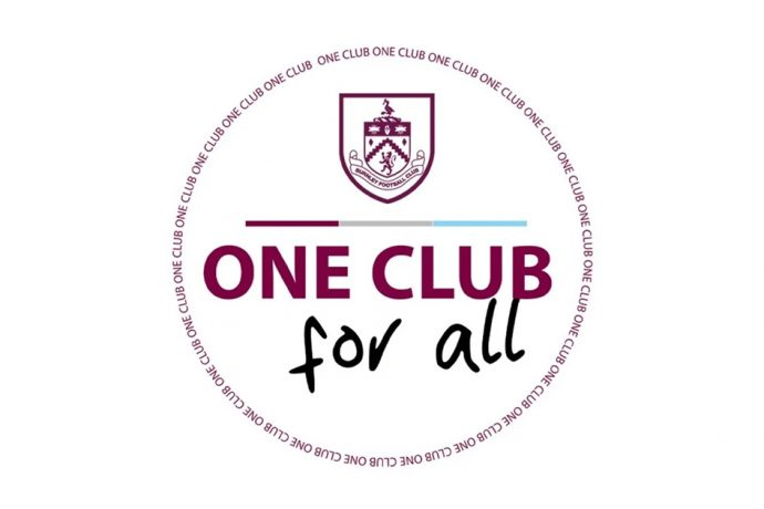 Burnley FC is 'One Club for All'. (Image courtesy: Burnley FC)