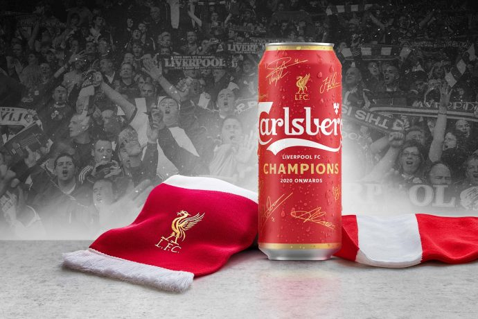 Carlsberg is celebrating Liverpool FC's Premier League title win with a limited edition 'champions can' for fans. (Photo courtesy: Carlsberg Group)
