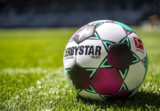 The official Bundesliga match ball by DERBYSTAR for the 2020-21 season. (Photo courtesy: DERBYSTAR)