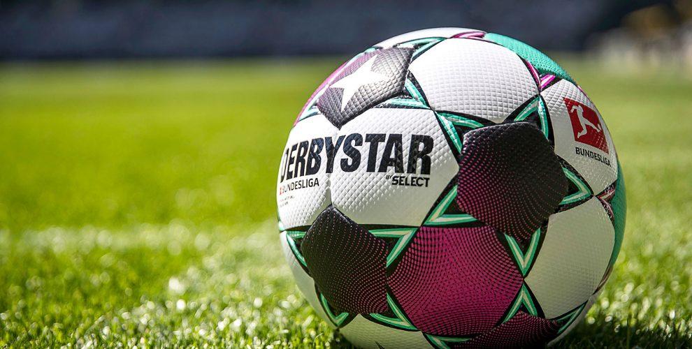 The official Bundesliga match ball by DERBYSTAR for the 2020-21 season. (Photo courtesy: DERBYSTAR)
