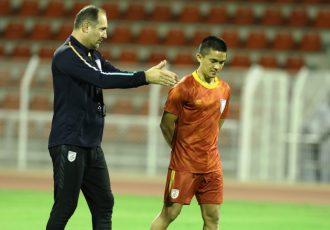 Indian national team head coach Igor Štimac and captain Sunil Chhetri. (Photo courtesy: AIFF Media)