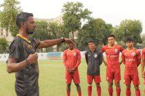 India U-16 national team head coach Bibiano Fernandes during a training session. (Photo courtesy: AIFF Media)