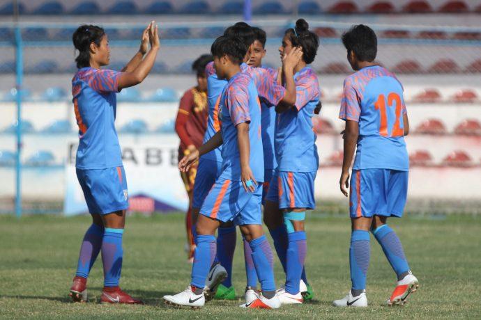 The Indian Women's national team. (Photo courtesy: AIFF Media)