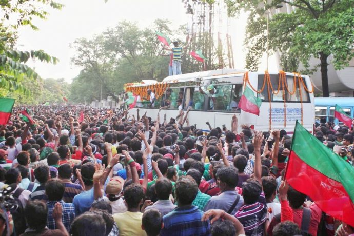 File picture of Mohun Bagan's reception after winning their maidan I-League title. (Photo courtesy: AIFF Media)