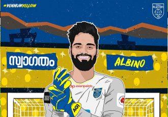 Kerala Blasters FC's new goalkeeper Albino Gomes. (Image courtesy: Kerala Blasters FC)