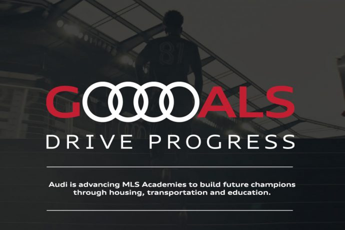 """""""Audi Goals Drive Progress"""": Audi of America and Major League Soccer celebrate the 2020 season and reignite commitment to youth development in North America. (Image courtesy: AUDI AG)"""