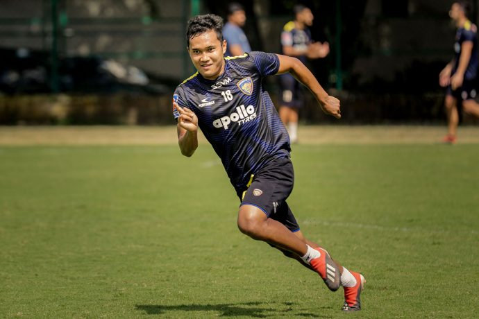 Chennaiyin FC left-back Jerry Lalrinzuala. (Photo courtesy: Chennaiyin FC)