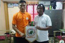 NEROCA FC present their new signing Ningon Chiphang. (Photo courtesy: NEROCA FC)
