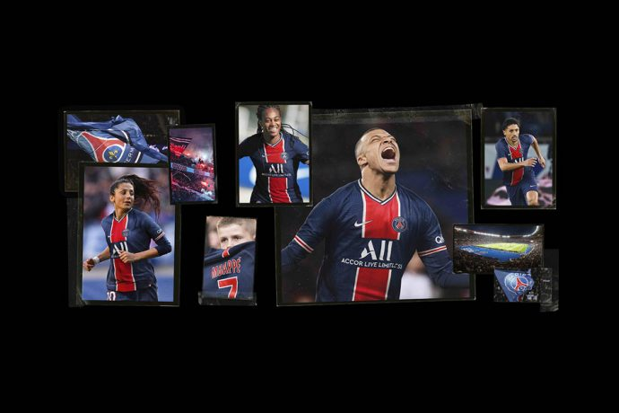 Paris Saint-Germain's 2020-21 home and away kits mark the club's 50th anniversary. (Photo courtesy: Nike)