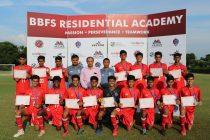 Students of the BBFS Residential Academy and Vedas International School. (Photo courtey: Bhaichung Bhutia Football Schools)