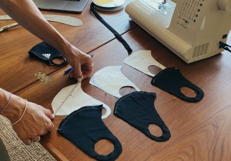 The Making of adidas Face Covers. (Photo courtesy: adidas)