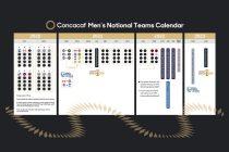 Concacaf Men's National Teams Calendar (Image courtesy: Concacaf)