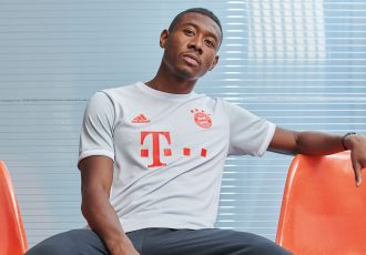 David Alaba presents the new FC Bayern away kit by adidas for the 2020-21 season. (Photo courtesy: adidas)