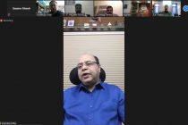 Members of the All India Football Federation (AIFF) and representatives of PricewaterhouseCoopers (PwC) during a video conference. (Photo courtesy: AIFF Media)
