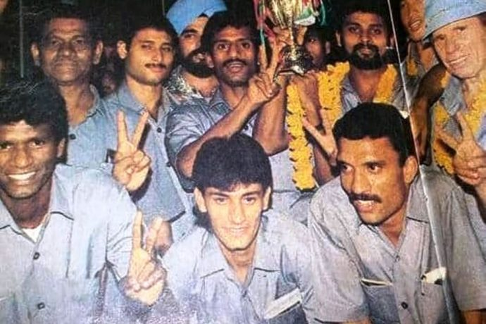 Members of the 1993 SAFF Championship winning Indian national team. (Photo courtesy: AIFF Media)