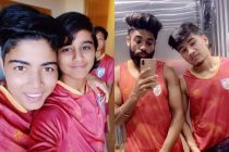 India WNT players Sangita Basfore and Sanju Yadav; India MNT players Germanpreet Singh and Anirudh Thapa. (Photo courtesy: AIFF Media)