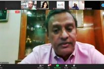 All India Football Federation General Secretary Kushal Das during an online seminar organized by the Bengal Chamber of Commerce and Industries. (Photo courtesy: AIFF Media)