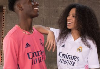 The new Real Madrid home (right) and away (left) jerseys for the 2020/21 season. (Photo courtesy: adidas)