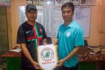 NEROCA FC present their new assistant coach Wangkheirakpam Tomba Singh. (Photo courtesy: NEROCA FC)