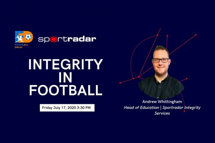 "Football Delhi and Sportradar webinar on ""Integrity in Football"". (Image courtesy: Football Delhi)"
