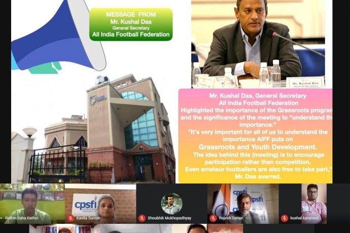 AIFF webinar for representatives from the Cerebral Palsy Sports Federation of India (CPSFI) and the International Federation of Cerebral Palsy Football (IFCPF). (Photo courtesy: AIFF Media)