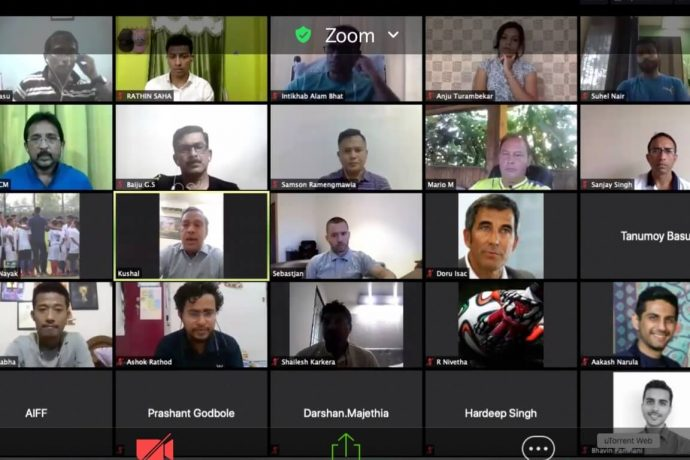 Participants of the AIFF webinar on grassroots for clubs and state associations. (Photo courtesy: AIFF Media)