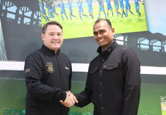 Colin Chambers, Director, International Professional Scouting Organisation and Savio Medeira, Head of Coach Education, All India Football Federation. (Photo courtesy: AIFF Media)