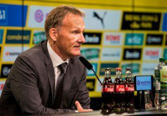 Borussia Dortmund CEO Hans-Joachim Watzke during a press conference. (Photo © Borussia Dortmund GmbH & Co. KGaA)