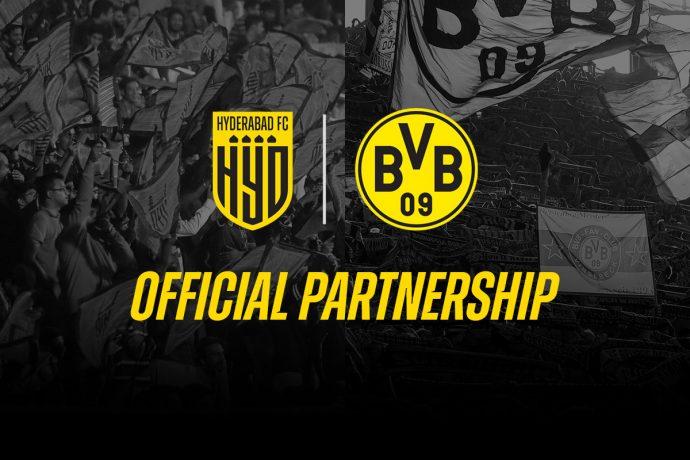 Hyderabad FC and Borussia Dortmund enter into historic multi-year partnership. (Image courtesy: Hyderabad FC)