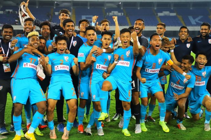 Indian Arrows players and officials. (Photo courtesy: AIFF Media)