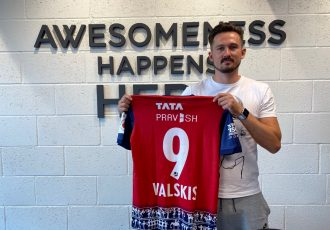 Jamshedpur FC's new signing Nerijus Valskis. (Photo courtesy: Jamshedpur FC)