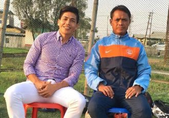 Former Indian internationals Renedy Singh with Manitombi Singh. (Photo courtesy: Renedy Singh)