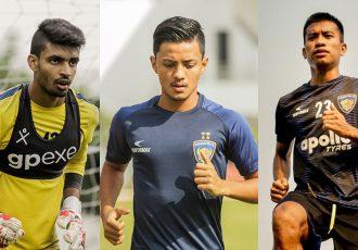 Chennaiyin FC players Samik Mitra, Aman Chetri and Reamsochung Aimol. (Photo courtesy: Chennaiyin FC)