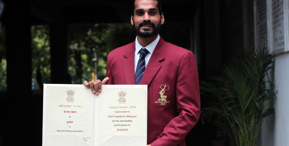 Arjuna Award winner Sandesh Jhingan. (Photo courtesy: AIFF Media)