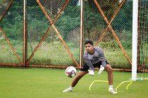 Goalkeeper Shayan Roy durig a training session. (Photo courtesy: Gokulam Kerala FC)