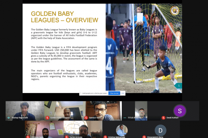 Golden Baby Leagues webinar organised by the All India Football Federation. (Photo courtesy: AIFF Media)