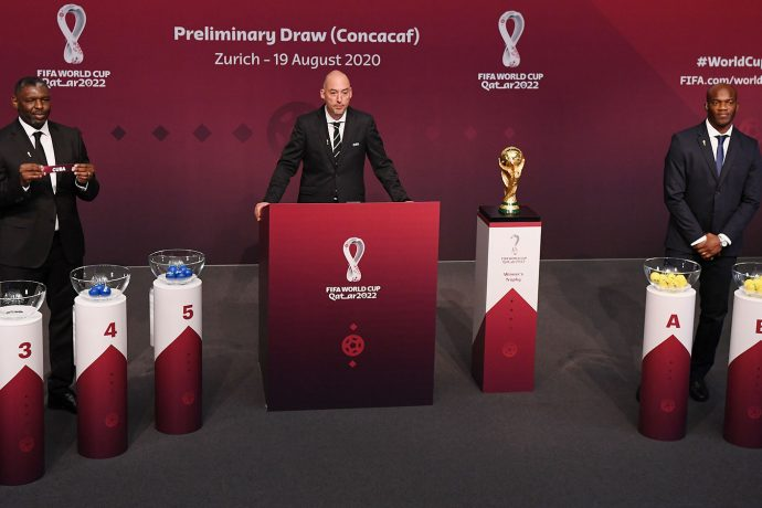 Official draw for the Concacaf Qualifiers to the FIFA World Cup Qatar 2022 at the Home of FIFA in Zurich, Switzerland. (Photo © Kurt Schorrer/FIFA via Getty Images)