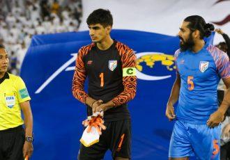 Indian national team goalkeeper Gurpreet Singh Sandhu and defender Sandesh Jhingan. (Photo courtesy: AIFF Media)