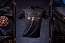 The new Manchester City away jersey features a striking all-over pattern inspired by Castlefield and the Bridgewater canal, an area symbolic of Manchester's past, present and future. (Photo courtesy: PUMA)