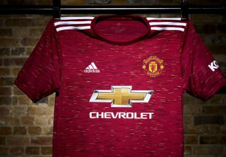 The new 2020/21 Manchester United home kit by adidas is inspired by the club's iconic crest. (Photo courtesy: adidas)