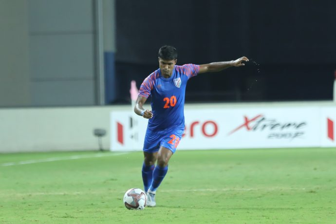 Indian national team defender Pritam Kotal. (Photo courtesy: AIFF Media)